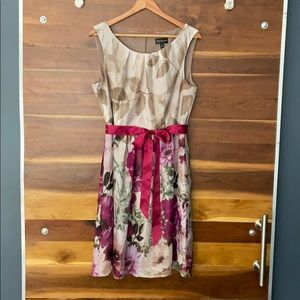 Connected Apparel Floral Print Dress